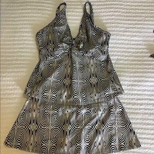 Bikini Bay 2 Piece Tankini Black/White/Silver